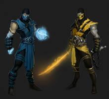 sub-zero vs scorpion by ErikBragalyan