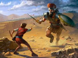 David and Goliath by ErikBragalyan