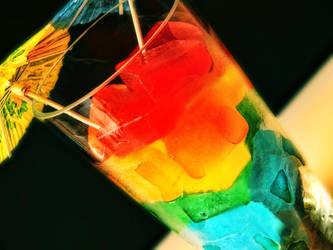 Rainbow is my favorite drink by dragonarya7
