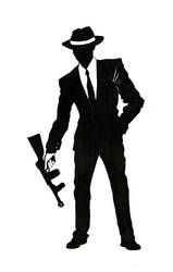 40's real gangsta silhoulette by AMON-THE-EVIL-CYBORG
