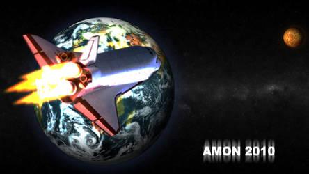 Space Shuttle Atlantis by AMON-THE-EVIL-CYBORG