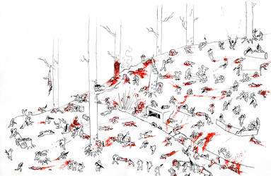 Gggreat battle in forest by AMON-THE-EVIL-CYBORG
