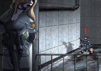 MGS - Sniper Wolf Boss Battle by Danaki