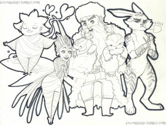 RotG .First Four. by Samuraiqueen