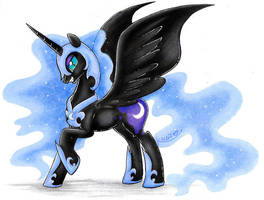 Nightmare Moon by karzii
