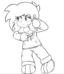 Shokora ready to fight by RareKirby