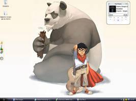 Panda sreen by Redounette