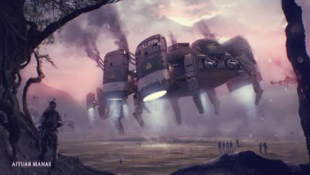 Dragon-fly by AITUARMANAS