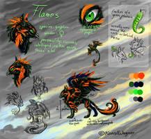 Flames ref sheet by KonsiWagner
