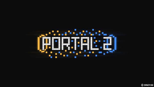 Portal 2 - Pixel Wallpaper by NinjaSaus