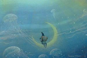 floating melody by Ebineyland
