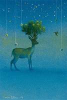 curiosity of deer by Ebineyland