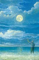 Moon kite by Ebineyland