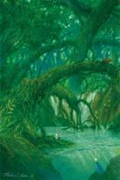 Under the tree bridge by Ebineyland