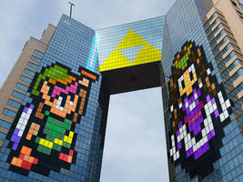 40-Story Zelda and Link building in Tokyo! by J-Skipper