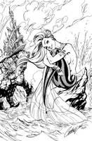 Little Mermaid - inks by J-Skipper