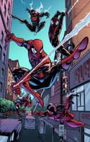 Spider-men by J-Skipper