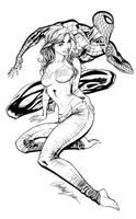 Spidey and MJ - Inks by J-Skipper