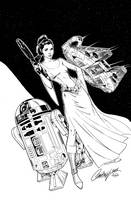 Leia - Inks by J-Skipper