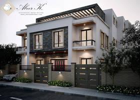 New cairo's villa - exterior by kasrawy