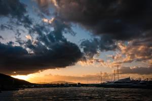 Sunset in Kursunlu by akirmak