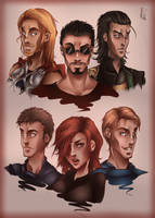 Avengers inspired. Very old Drawing. by CrisK-Art