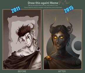 Demon Azazel (draw this again) by CrisK-Art