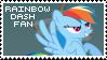 Rainbow Dash Fan Stamp by Shiiazu