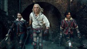 Wolf-pack /Lambert, Geralt, Eskel Cosplay by KADArt-Cosplay