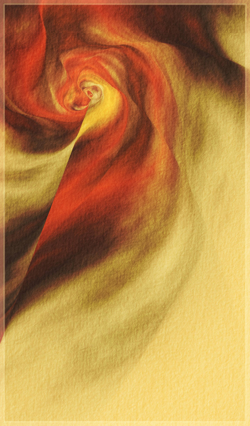 Red fabric - aquarell on paper by adrianamusettidavila