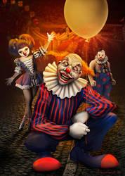 Clown's gang by adrianamusettidavila