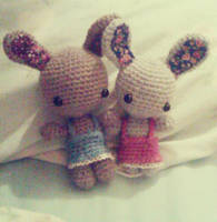 Sweet Bunny Sisters by knit-knit-noy-noy