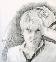 Drawing Of Tom Felton Draco Malfoy By Libbythezoar86 On Deviantart
