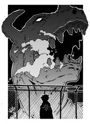 Digital Monster Greymon by Noiseartwork