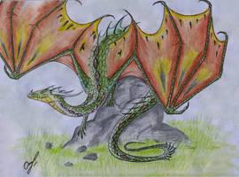 Mottled dragon by Chickenzaur