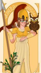 [Art Nouveau x Greek Mythology]Athena by GalaxySultan