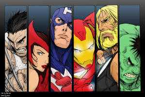 The Avengers By Alvin Lee_Cols by panda-ai