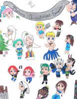 Christmas Collage of OCs 2015 by FreeingMyAngelWings