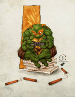 TMNT Mikey - Colors by TracyWong