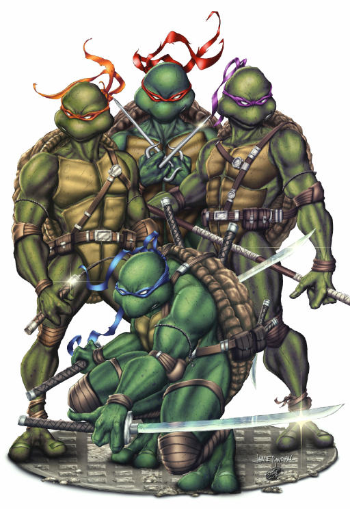 TMNT 30 Year Anniversary Cover - Colors by TracyWong