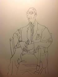 Portrait of Igor Stravinsky from Picasso by realTIMematrix