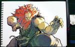 Akuma from Street Fighter 5 by sykosan