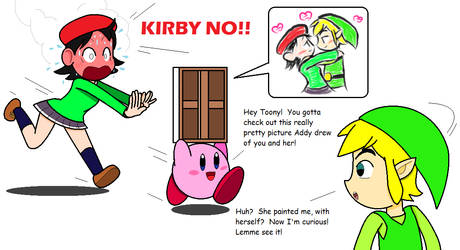 Kirby and The Secret Painting by JBX9001