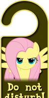 Fluttershy Door Knob Hanger by Thorinair