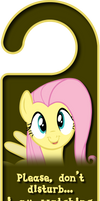 Cute Fluttershy Door Knob Hanger by Thorinair