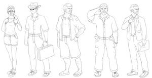 Other Characters from the Jurassic Park Novels by Green-Mamba