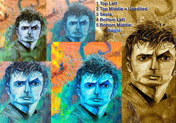 David Tennant Print Options Doctor - I'm Not Ready by Valethia