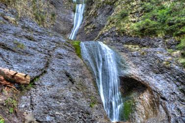 HDR Duruitoarea Waterfall, Romania by Kostelinho