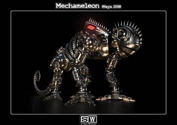 Mechameleon Front View by iFeelNoSorrow
