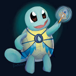 Squirtle Magical Girl by BiteMeFox